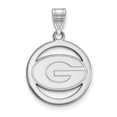 Sterling Silver LogoArt University of Georgia Sm Pendant in Circle