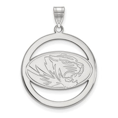 Sterling Silver LogoArt University of Missouri L Pendant in Circle