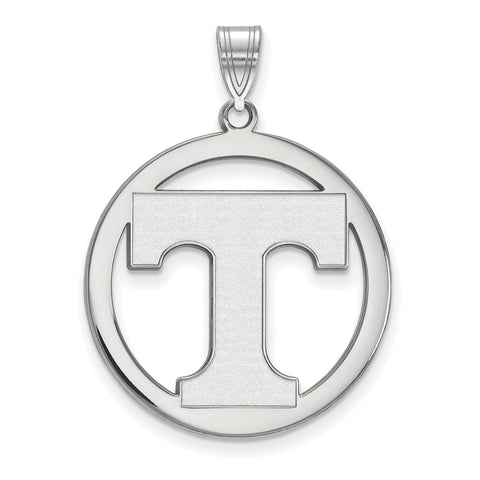 Sterling Silver LogoArt University of Tennessee XL Pendant in Circle