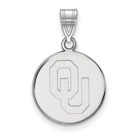 10kw LogoArt University of  Oklahoma Medium Disc Pendant