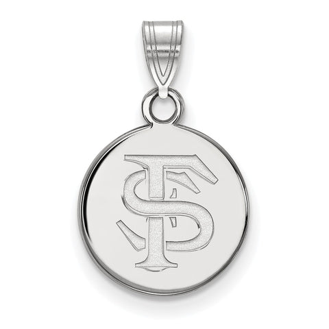 14kw LogoArt Florida State University Small Disc Pendant