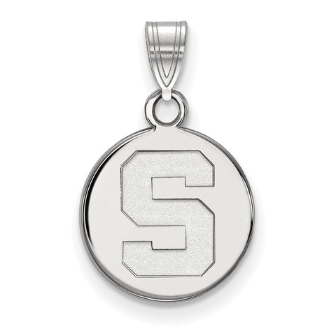 14kw LogoArt Michigan State University Small Disc Pendant