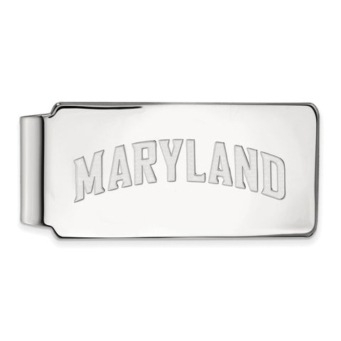 10k White Gold Logoart Maryland Money Clip