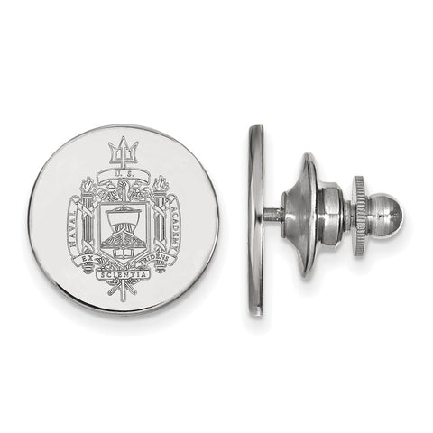 14kw LogoArt United States Naval Academy Crest Lapel Pin