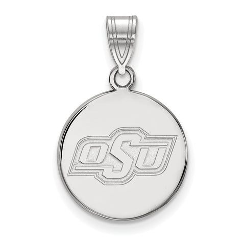 14kw LogoArt Oklahoma State University Medium Disc Pendant