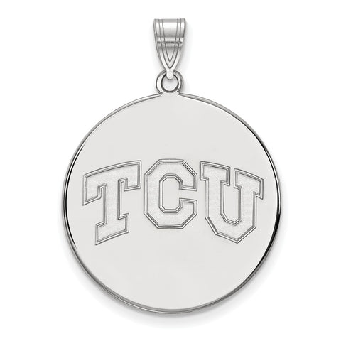 10kw LogoArt Texas Christian University XL Disc Pendant