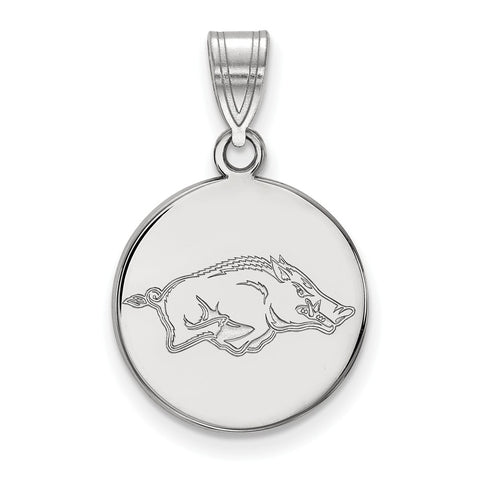 14kw LogoArt University of Arkansas Medium Disc Pendant