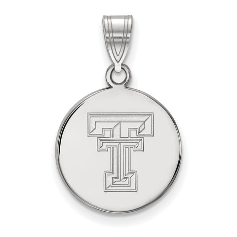 14kw LogoArt Texas Tech University Medium Disc Pendant