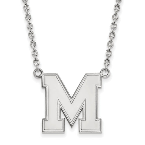 10kw LogoArt Univeristy of Memphis Large Pendant w/Necklace