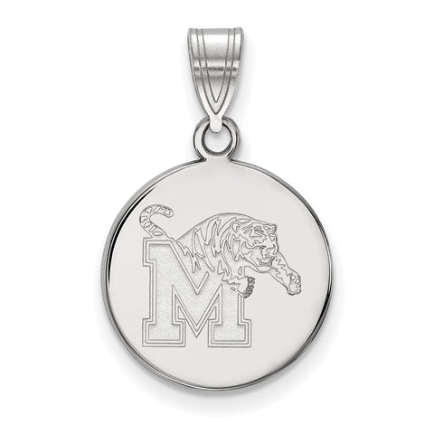 14kw LogoArt University of Memphis Medium Disc Pendant