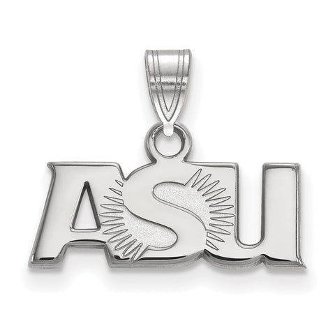 Sterling Silver LogoArt Arizona State University Small Pendant