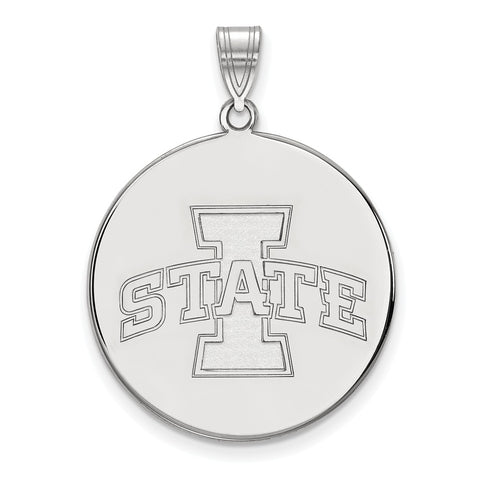 Sterling Silver LogoArt Iowa State University XL Disc Pendant