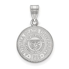 Sterling Silver LogoArt Arizona State University Medium Crest Pendant