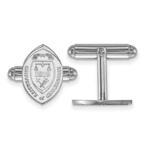 Sterling Silver LogoArt University of Cincinnati Crest Cuff Link