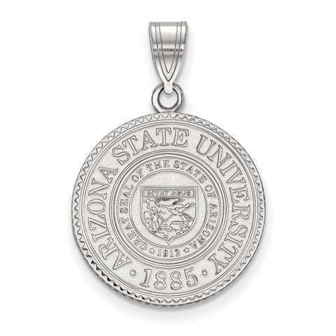 Sterling Silver LogoArt Arizona State University Large Crest