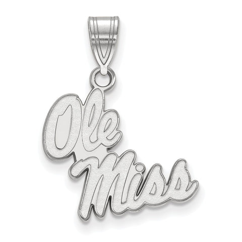 14kw LogoArt University of Mississippi Medium Pendant