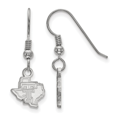 Sterling Silver LogoArt Texas Tech University XS Dangle Earrings