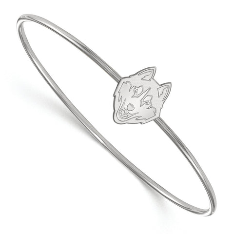 Sterling Silver University of Connecticut Slip on Bangle