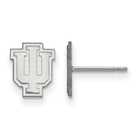 Sterling Silver LogoArt Indiana University XS Post Earrings