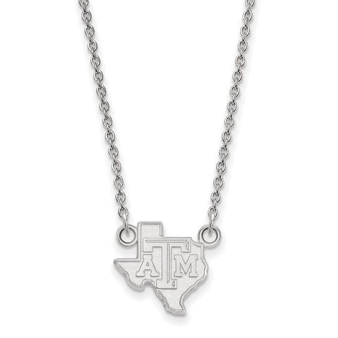 14kw LogoArt Texas A&M University Small Pendant w/Necklace