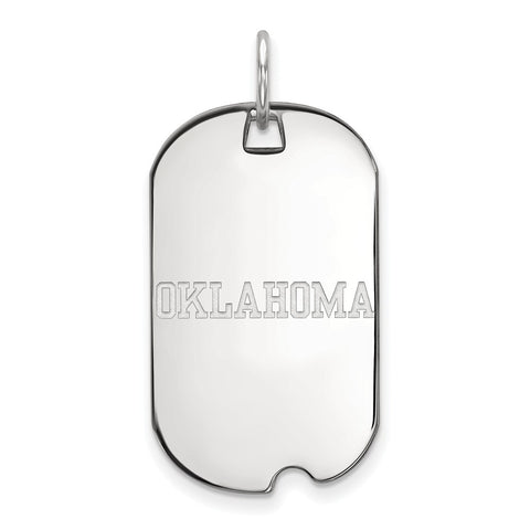 10kw LogoArt University of  Oklahoma Small Dog Tag