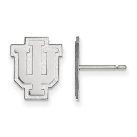 14kw LogoArt Indiana University Small Post Earrings