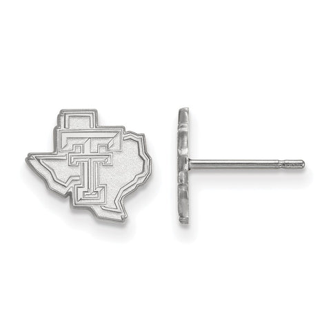 Sterling Silver LogoArt Texas Tech University XS Post Earrings