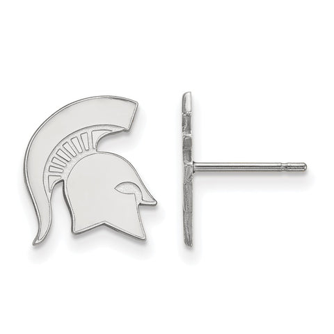 10kw LogoArt Michigan State University Small Post Earrings