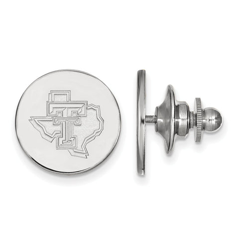 Sterling Silver LogoArt Texas Tech University Lapel Pin