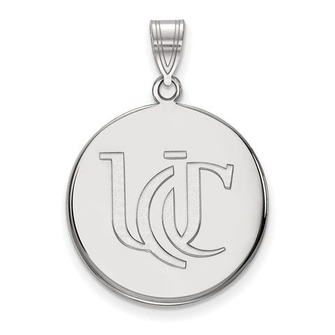 Sterling Silver LogoArt University of Cincinnati Large Pendant