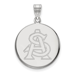 Sterling Silver LogoArt Arizona State University Large Disc Pendant