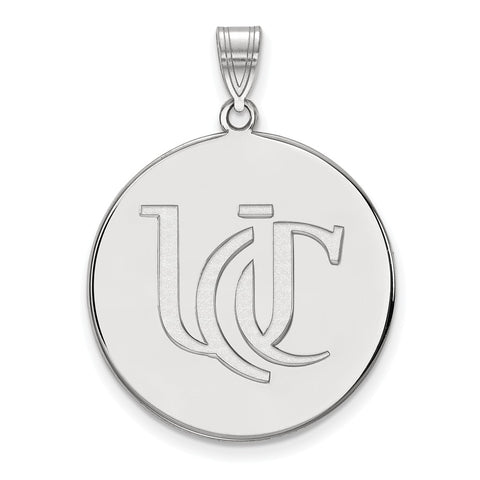 Sterling Silver LogoArt University of Cincinnati XL Disc Pendant