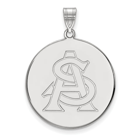 Sterling Silver LogoArt Arizona State University XL Disc Pendant