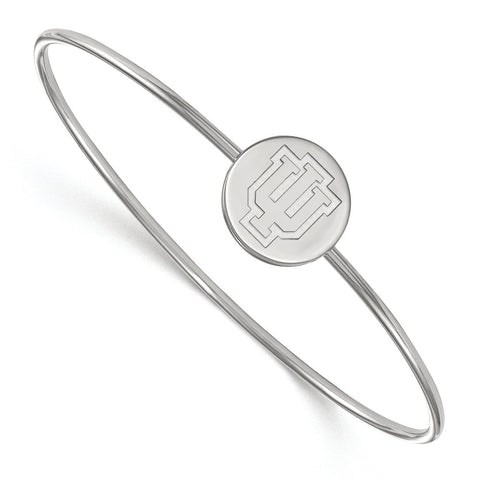 Sterling Silver LogoArt Indiana University Bangle Slip on