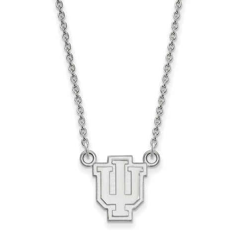 14kw LogoArt Indiana University Small Pendant w/Necklace
