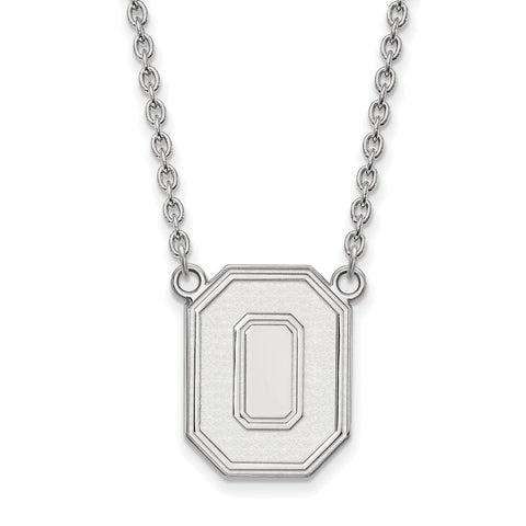14kw LogoArt Ohio State University Large Pendant w/Necklace