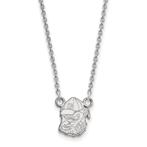Sterling Silver LogoArt University of Georgia Small Pendant w/Necklace
