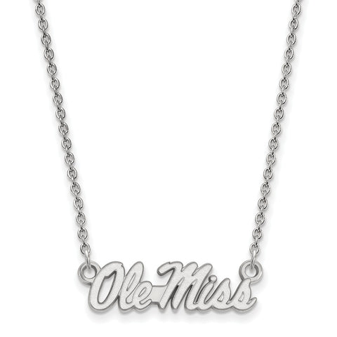 10kw LogoArt University of Mississippi Small Pendant w/Necklace