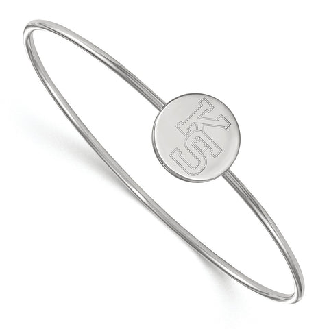 Sterling Silver LogoArt Kansas State University Bangle Slip on