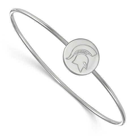 Sterling Silver LogoArt Michigan State University Slip on Bangle