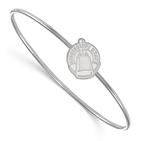 Sterling Silver LogoArt Mississippi State University Bangle Slip on