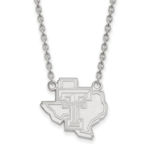 14kw LogoArt Texas Tech University Large Pendant w/Necklace