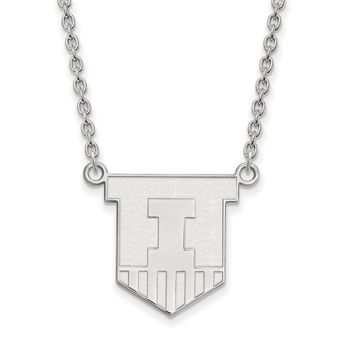 14kw LogoArt University of Illinois Large Pendant w/Necklace