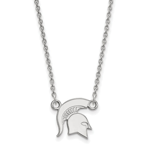 10kw LogoArt Michigan State University Small Pendant w/Necklace