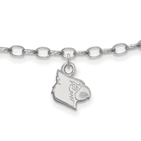 Sterling Silver Logoart University Of Louisville Cardinals Anklet