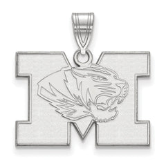 Sterling Silver LogoArt University of Missouri Medium Pendant