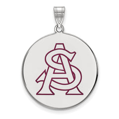 Sterling Silver LogoArt Arizona State University XL Enamel Disc Pendant