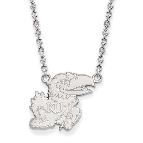 14kw LogoArt University of Kansas Large Pendant w/Necklace