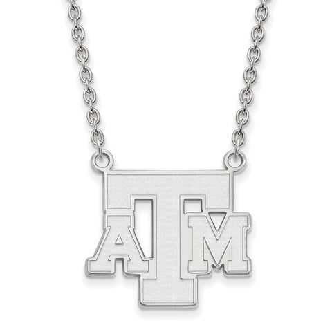 14kw LogoArt Texas A&M University Large Pendant w/Necklace