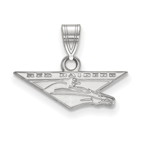 Sterling Silver LogoArt Texas Tech University Small Pendant